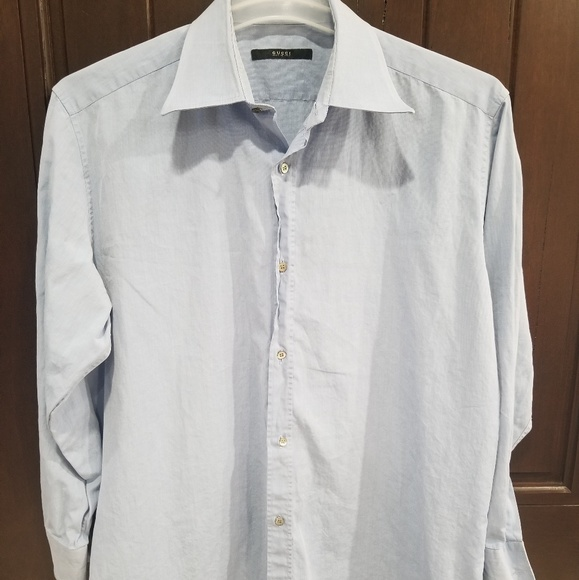 d887d6579 Gucci Shirts | Mens Collared Button Down Shirt Sz 42165 | Poshmark
